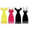 Woman Summer Dress vector image vector image
