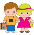 Couple Travel vector image vector image