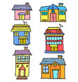 house set various vector image