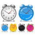 alarm clocks vector image vector image