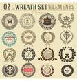 Laurel wreath set Design elements vector image