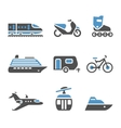 Transport Icons - A set of fifth vector image vector image