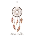 American Indians amulet Dream catcher with vector image