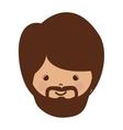 avatar face of jesus christ vector image