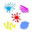 colorful splash - stain - blot set vector image