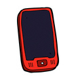 comic cartoon mobile phone vector image