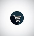 flat round shopping cart icon vector image