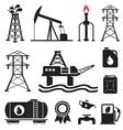 Gas oil set vector image