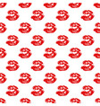 kiss lips seamless pattern background isolated on vector image