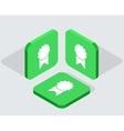 modern 3 isometric app icons vector image