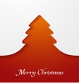 Orange abstract christmas tree applique vector image