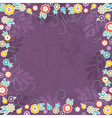 purple background of color flowers vector image