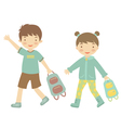 School kids vector image