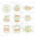 Set of hand drawn natural badges and labels vector image
