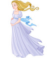 young pregnant woman vector image