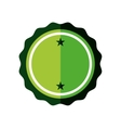 sticker green badge empty icon vector image