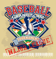 baseball grandslam league vector image vector image