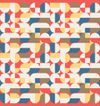 abstract geometric retro seamless pattern vector image