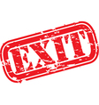 Grunge exit rubber stamp vector image