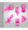 Set of pink labels for wide variety of use vector image