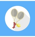 Tennis rackets and ball icon vector image