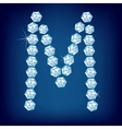 diamond alphabet letter m vector image vector image