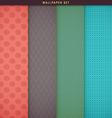 Wallpaper texture and patterns set vector image