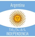 Argentina card independence day vector image