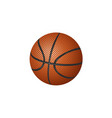 flat cartoon basketball ball isolated vector image
