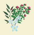 jasmine flower leaves ornament floral vector image