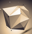 Modern geometric technology style abstract unusual vector image