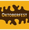 Oktoberfest Beer Flowing down alcohol frame Flat vector image