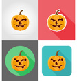 Pumpkins for halloween flat icons 16 vector image