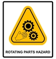 Rotating Parts Hazard sign vector image