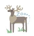 Set of Cute Zoo Animal Kawaii eyes and vector image