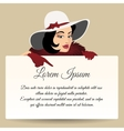 Woman with banner vector image