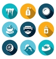 Set of Disease Icons Cooling Temperature vector image