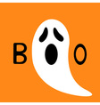 Happy Halloween Funny ghost with hands Boo text vector image