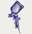 Spray gun vector image vector image