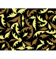 seamless black texture with leaves vector image vector image