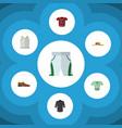 flat clothes set of t-shirt uniform casual and vector image