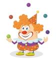 Clown juggling balls vector image vector image