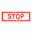 office stamp stop vector image vector image