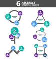6 abstract Infographic elements flat design set vector image