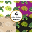 Four seamless pattern with tropical turtle vector image