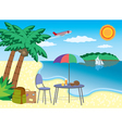 vacation at the seashore vector image