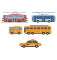 City Transport Set vector image
