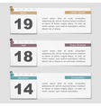 Banners with Calendar Pages vector image