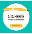 Concept 404 error page vector image