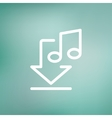 Downloaded music thin line icon vector image